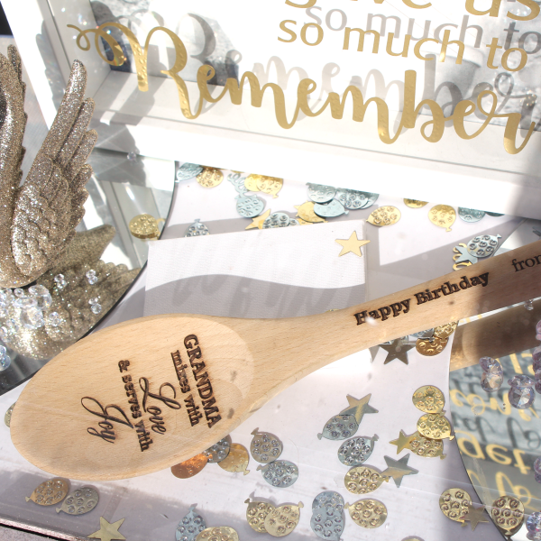 Personalised Engraved Wooden Spoon by The Print Centre, Paisley and Johnstone